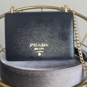 Prada purse -PATTINA IN PELLE SAFFIANO VERNICE SOFT CALF MORA TU